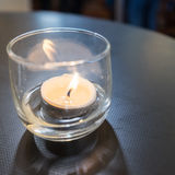 Candle in a glass Stock Photo