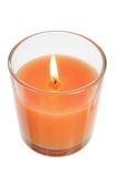 Candle in Glass Stock Photography