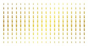 Candle Gold Halftone Array. Candle icon gold colored halftone pattern. Vector candle pictograms are organized into halftone matrix with inclined gold color Stock Images