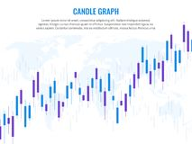 Candle graph. Stock market exchange marketing statistics risk finance trade investment indices growth chart world globe royalty free illustration