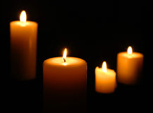 Candle Grouping Isolated Stock Image