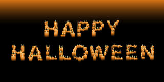 Candle Halloween sign Royalty Free Stock Image