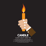 Candle In Hand Stock Photography