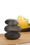 Candle and Healing Rocks Stock Photography