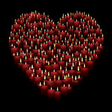 Candle heart Stock Image