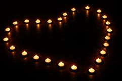 Candle heart. For valentine's day Royalty Free Stock Photos