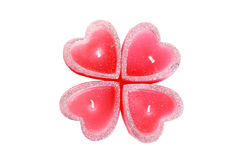 Candle heart Royalty Free Stock Images