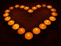 Candle heart Royalty Free Stock Photo