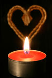Candle and heart Royalty Free Stock Photography