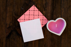 Candle heart and gift for Valentine's Day Royalty Free Stock Photos