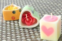Candle Heart Shape Royalty Free Stock Image