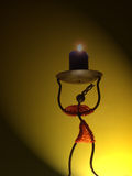 Candle holder. Candle light holder in shape of African girl Royalty Free Stock Photography