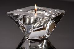 Candle holder. Closeup of stylish candle holder Stock Photo