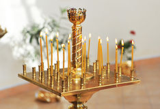 Candle holder in the church. Stock Photography