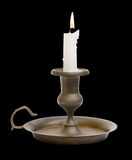 Candle Holder with Clipping Path Royalty Free Stock Photos
