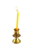 Candle holder isolated royalty free stock photos
