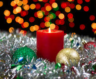 Candle for the Holidays Stock Photo