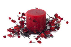 Candle, home decoration Stock Images