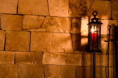 Candle. Home environment with fire and candles Stock Images