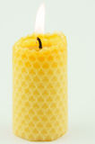 Candle from honeycomb Stock Image