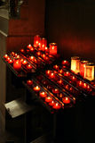 Candle of hope. In french church stock images
