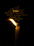 A candle of hope Stock Photography