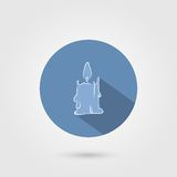 Candle icon Royalty Free Stock Photo