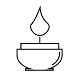 Candle  icon. Candle linear icon Royalty Free Stock Images