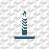 Candle icon stock vector illustration flat design Royalty Free Stock Image
