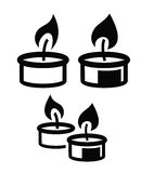 Candle icon. Vector black Candle icon on white background Royalty Free Stock Photo