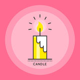 Candle icon vector Stock Image