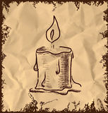 Candle icon on vintage background Royalty Free Stock Photography