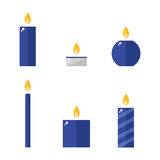 Candle icons set. Royalty Free Stock Images