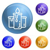 Candle icons set vector stock illustration