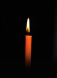 Candle, Isolated On Black Stock Photos