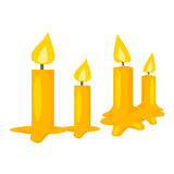 Candle isolated illustration Stock Image
