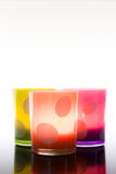 Candle jars, colorful. Royalty Free Stock Image