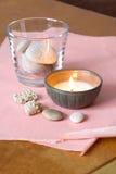 candle kamienie Obrazy Stock