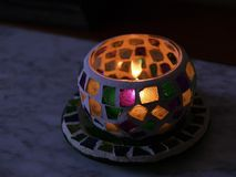 Candle and lamp. Candle light and lamp royalty free stock image