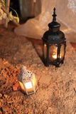 Candle lamp decoration festival of light, lighting decorate in w Stock Image