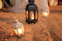 Candle lamp decoration festival of light Royalty Free Stock Image