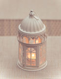 Candle lantern. For coffee shop Royalty Free Stock Photos