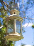 Candle lantern hang on tree Royalty Free Stock Photography