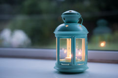 Candle in a Lantern Stock Photography