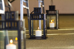 Candle Lanterns Wedding Decor Stock Images