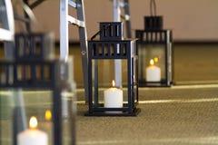 Candle Lanterns Wedding Decor stock images