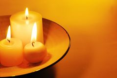 Candle light. With copy space Stock Photos