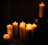 Candle light. Candles creating nice candle light stock photography