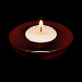 Candle Light. Burning Candle in the dark (EPS10 Stock Photography