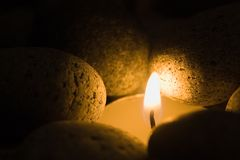 Candle light. Candlelight symbolising hope Royalty Free Stock Photo